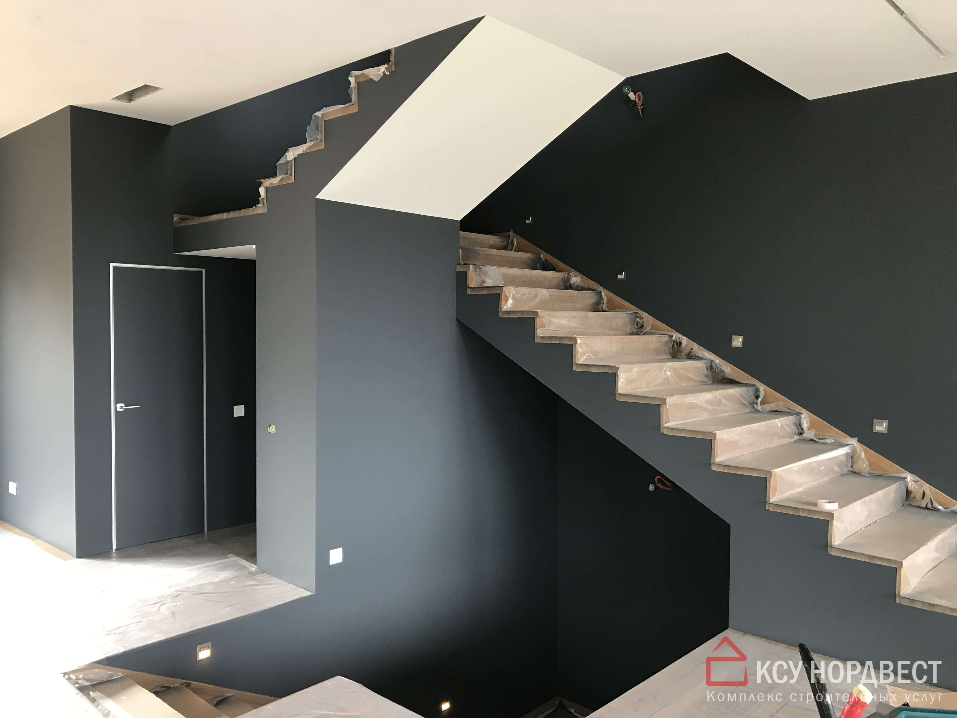 покраска стен и потолка краскопультом