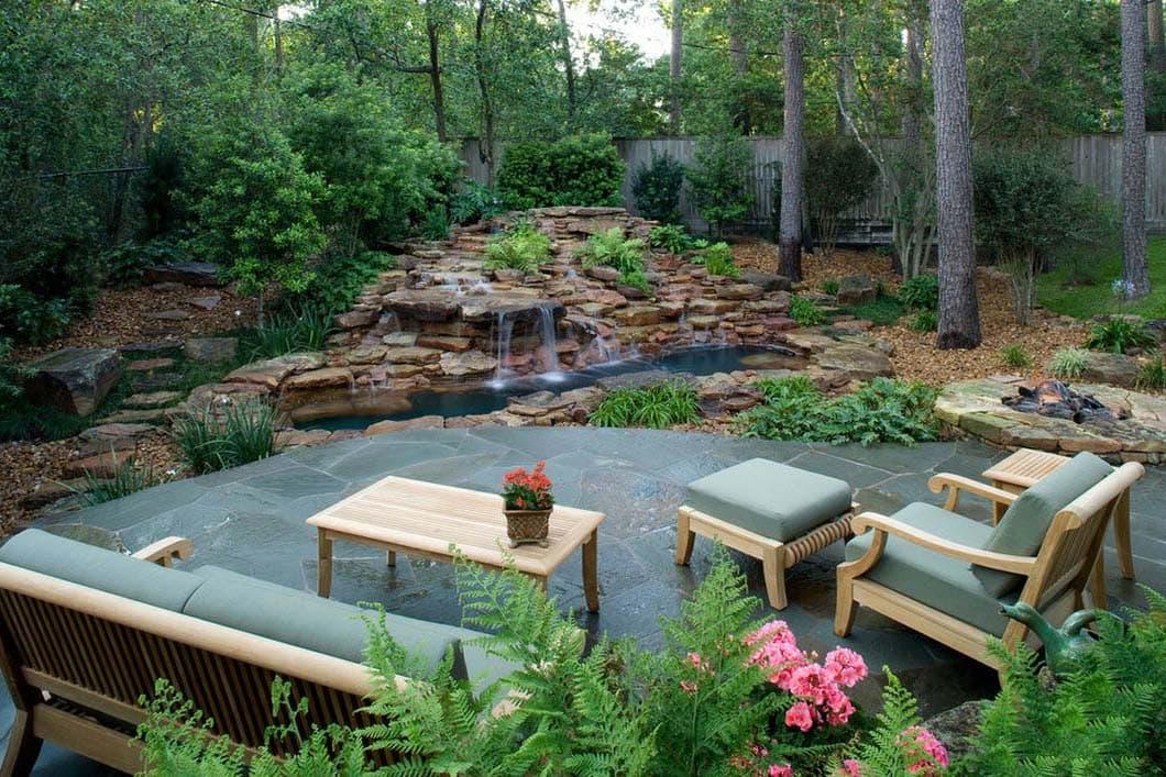 веер варианты зоны отдыха на садовом участке фото городского