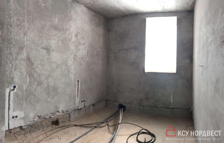 стена до черновых работ