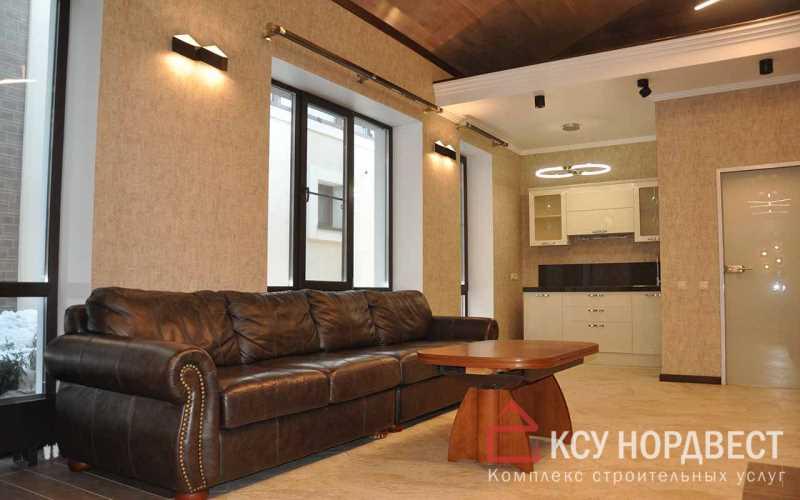 Отделка интерьера в доме, поклейка обоев на стены, укладка плитки на пол, монтаж гипсокартона на потолок