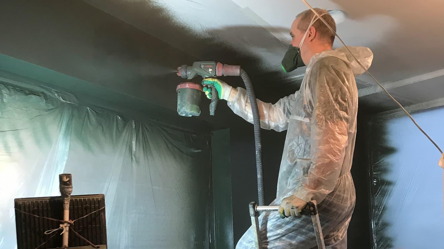 Механизированная покраска стен и потолка