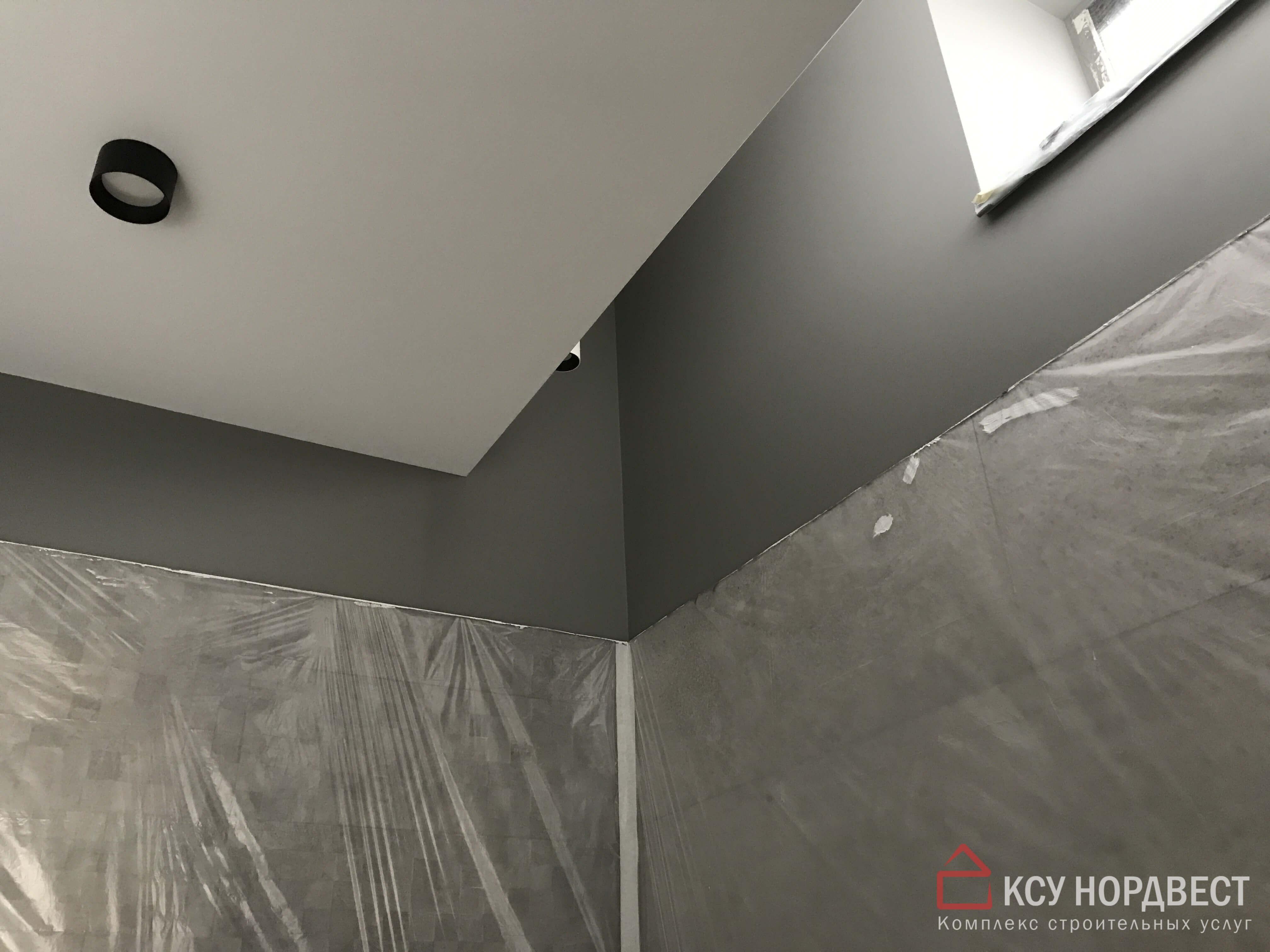 безвоздушная покраска стен и потолка