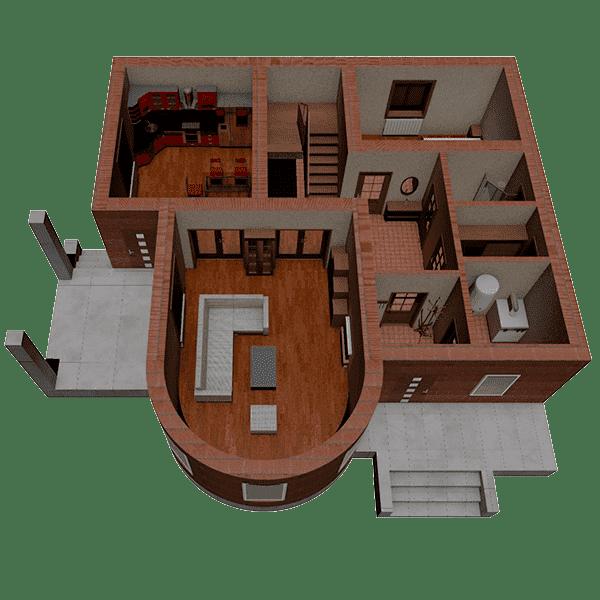 дом из керамических блоков цена